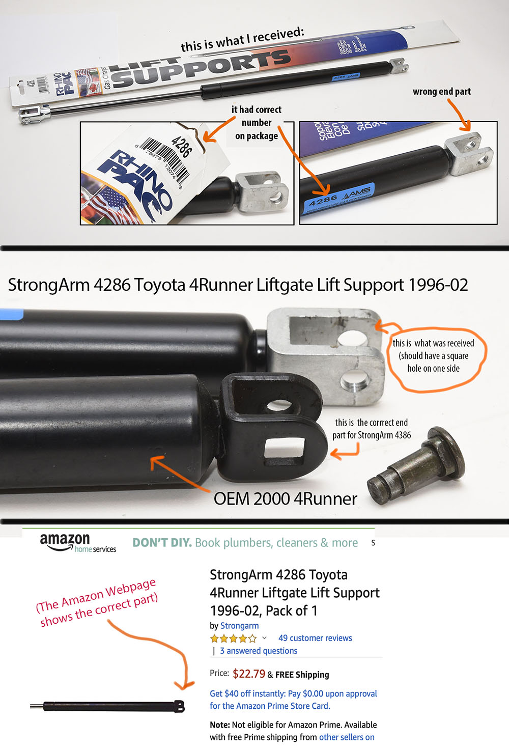 Qty Added Lifting Force Over The version 2 Fits Toyota 4Runner 1996 To 2002 Liftgate Lift Supports